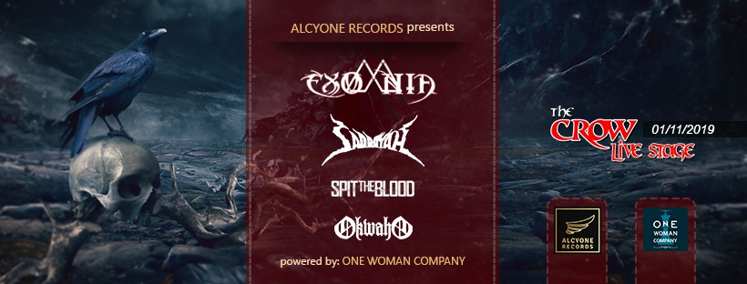 Exomnia, Saddayah, Spit the Blood, Okwaho Live at Crow