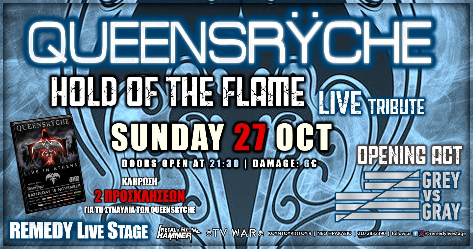 Queensryche Tribute-Live Hold Of The Flame|Op. Act: Grey Vs Gray
